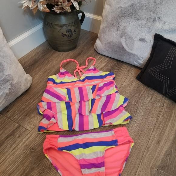 21098edc8e Justice Swim | Girls 2 Piece Tankini Suit Size 12 Euc | Poshmark